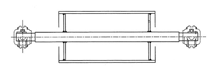 バーベル構造(ボスなし、軸と鏡板を溶接)