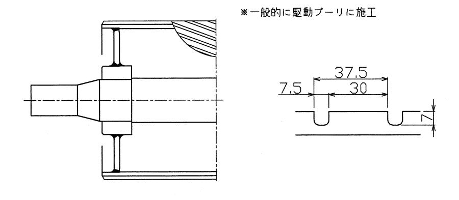 ダブルヘリカル[P=37.5]:回転方向は一方向のみ